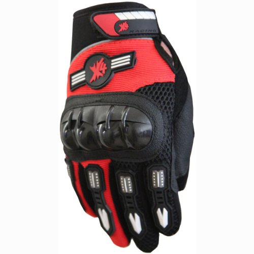Street Bike Full Finger Motorcycle Gloves 010 Black/red (L)