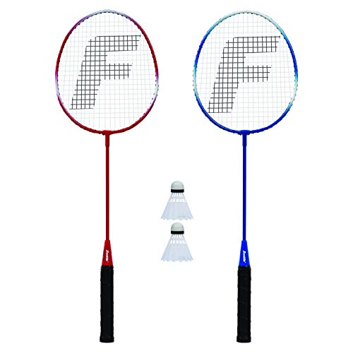 Franklin Sports 2 Player Badminton Racquet Replacement Set, One Size, Red, White, Blue (52623X)