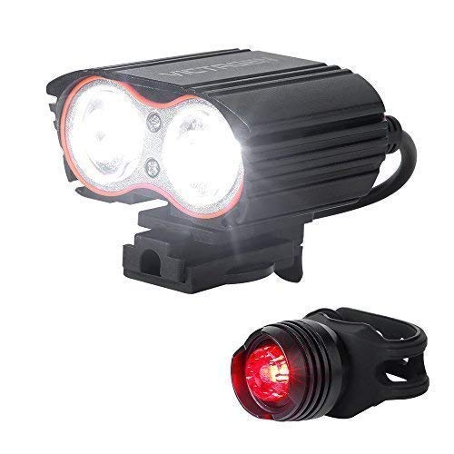 victagen Bike Light,Bicycle Front & Tail Light,Super Bright 2400 Lumens,Rechargeable Bike Headlight...