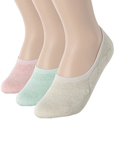 OSABASA Womens 3 Pair Casual No-Show Socks of Hidden Flat Boat Line MULTI3 Asia L (SET3KWMS058)