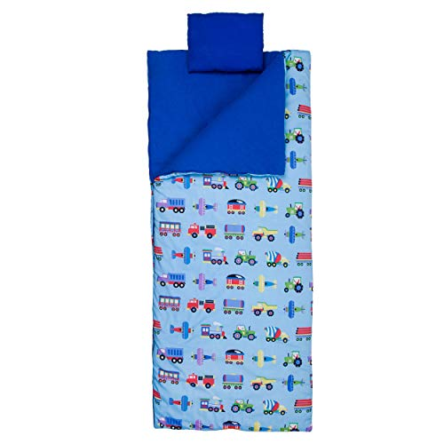 Wildkin Sleeping Bag for Toddler Boys and Girls, Includes Pillow and Stuff Sack, Perfect Size for...