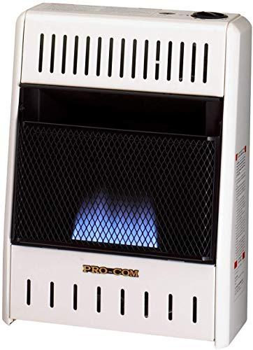 ProCom ML060HBA Ventless Blue Flame Heater 6,000 BTU, White