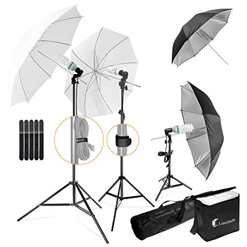 LimoStudio, 700W Output Lighting Series, LMS103, Soft Continuous Lighting Kit for White and Black...