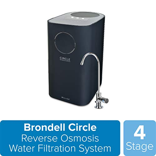 Brondell Circle Reverse Osmosis System, Under Sink, Black – 4 Stage RO Water Designer Chrome...