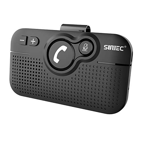 SUNITEC Hands Free Bluetooth for Cell Phone Car Kit - Wireless Bluetooth 5.0 Car Speaker AUTO Power...