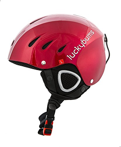 Lucky Bums Snow Sport Helmet, Red, Small