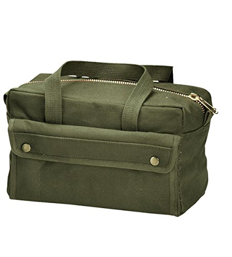 Rothco G.I. Type Mechanics Tool Bag with Brass Zipper, Olive Drab