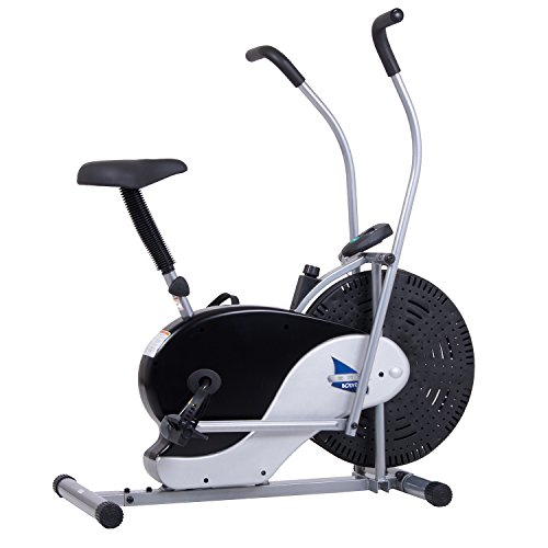 Body Rider Exercise Upright Fan Bike (with UPDATED Softer Seat) Stationary Fitness/Adjustable Seat...