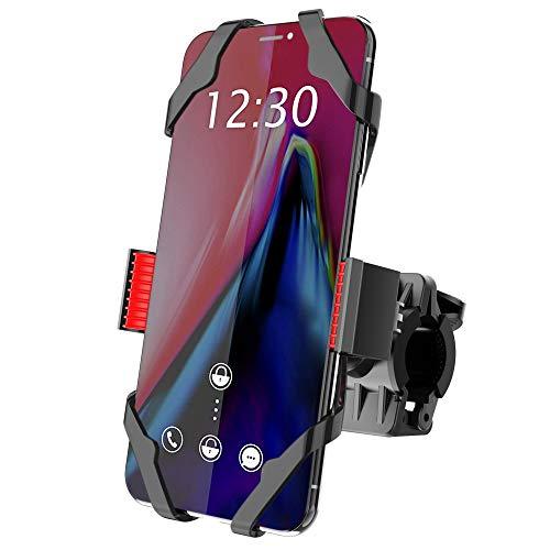 Bike Mount, IPOW Universal Cell Phone Bicycle Rack Handlebar & Motorcycle Holder Cradle Compatible...