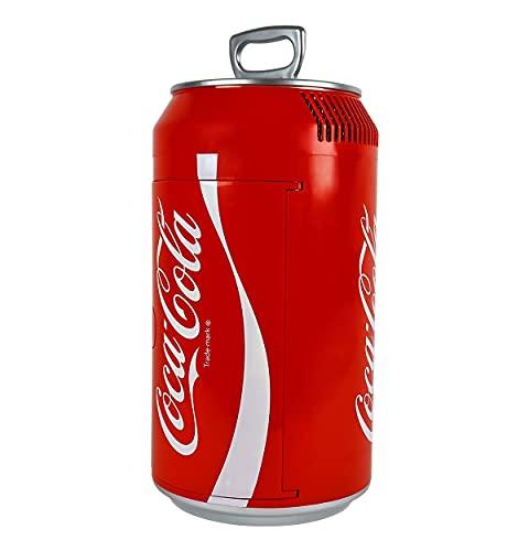 Coca-Cola Portable 12 Can Thermoelectric Mini Fridge Cooler, 10 L/10.6 Quarts Capacity, 12V DC/110V...