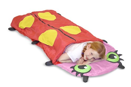 Melissa & Doug Sunny Patch Mollie Ladybug Sleeping Bag With Matching Storage Bag