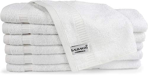 SALBAKOS Turkish Cotton Hotel & Spa Washcloths - Shower | Toallas De Baño, 13 by 13 Inch, Pack of...