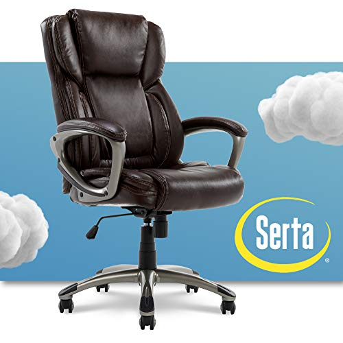 Serta Executive Office Adjustable Ergonomic Computer Chair with Layered Body Pillows, Waterfall Seat...