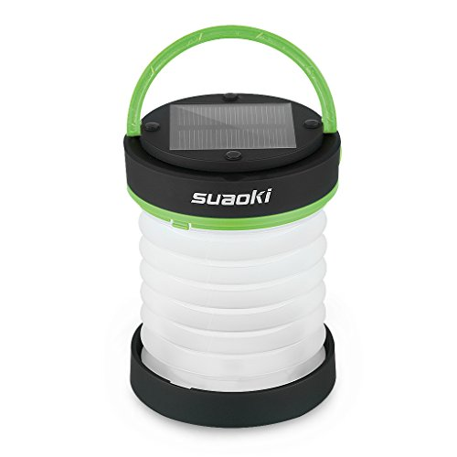 SUAOKI Led Camping Lantern Lights Rechargeable Battery (Powered by Solar Panel and USB Charging)...
