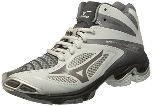 Mizuno Men's Wave Lightning Z3 Mid Volleyball Shoes, Grey, 12 D US