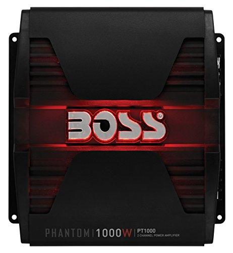 BOSS Audio PT1000 2 Channel Car Amplifier - 1000 Watts, Full Range, Class A/B, 2-8 Ohm Stable,...