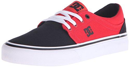 DC Women's Trase TX Skate Shoe, Black/Black/White, 5 B US