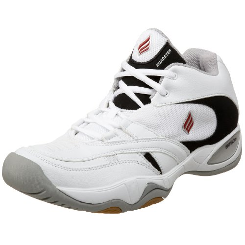 Ektelon T-9 Roadster Mid Indoor Court Shoe,White/Black,10 M Men's/11.5 M Women's