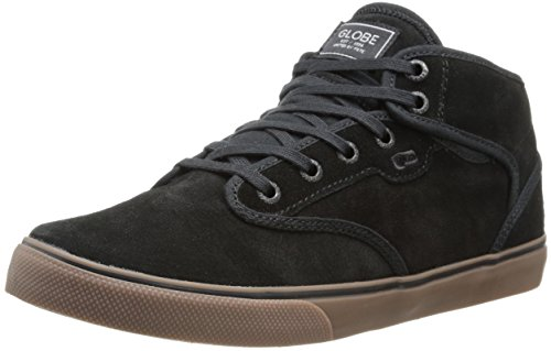 Globe Men's Motley Mid Skateboard Lifestyle Shoe,Black/Tobacco Gum,5 M US