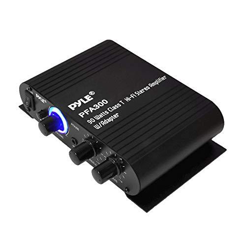 Power Home HiFi Stereo Amplifier - 90 Watt Portable Dual Channel Surround Sound Audio Receiver w/...