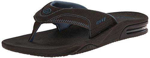 Reef Men's Fanning Prints Speed Logo Flip Flop, Tan Camo/Blue, 7 M US