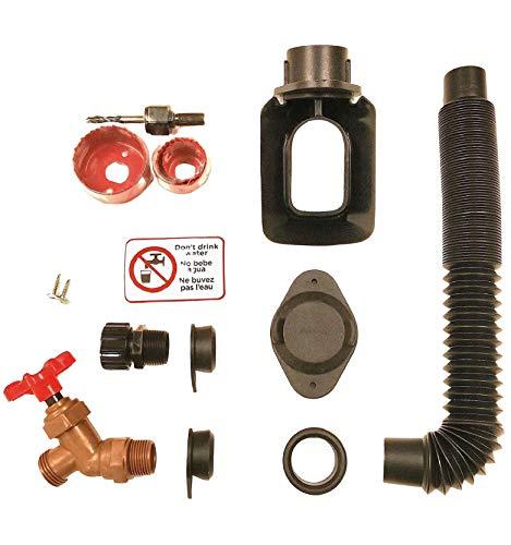 EarthMinded DIY Rain Barrel Diverter Kit - Water Barrel / Rain Barrel Adapter Kit, Includes Spigot...