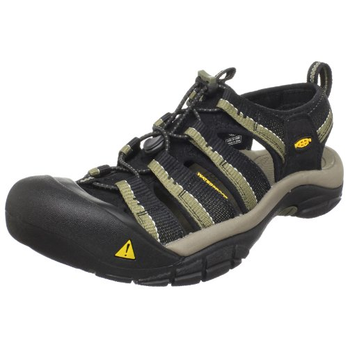 Keen Men's Newport H2 Sandal,Black/Stone Gray,11 M US