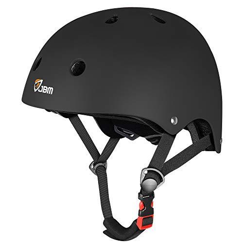 JBM Skateboard Helmet CPSC ASTM Certified Impact Resistance Ventilation for Multi-Sports Cycling...