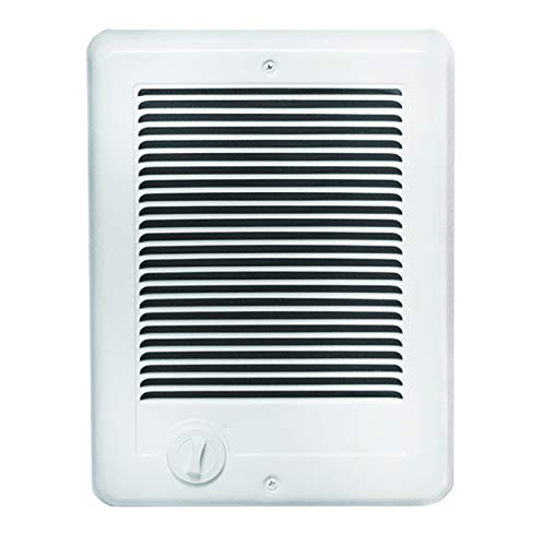 Cadet Com-Pak Electric Wall Heater with Thermostat (Model: CSC101TW), 120V, 1000W, White