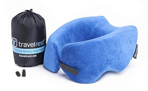 TRAVELREST Nest Patented Ultimate Memory Foam Travel Pillow/Neck Pillow - Washable - Voted Best...