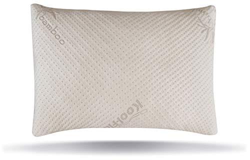 Snuggle-Pedic USA Made Ultra-Luxury Adjustable Bamboo Shredded Memory Foam Pillow with Zipper...