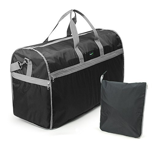 LAVIEVERT Foldable Travel Duffle Bag Attached to Luggage Sports Gear Gym Bag for Outdoor Activities...