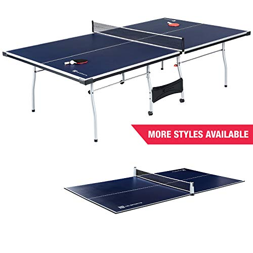MD Sports Table Tennis Set, Regulation Ping Pong Table with Net, Paddles and Balls (8 Pieces) - Blue...