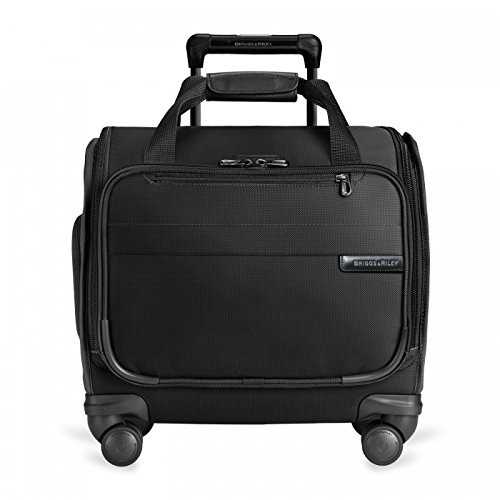 Briggs & Riley Baseline-Softside Cabin Spinner Bag Carry-On Luggage, Black, Underseater 16-Inch