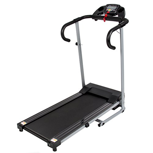 Best Choice Products Black 500W Portable Folding Electric Motorized Treadmill Running Fitness...
