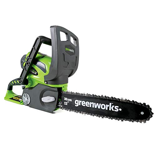 Greenworks G-MAX 40V 12-Inch Cordless Chainsaw, Tool Only, 20292