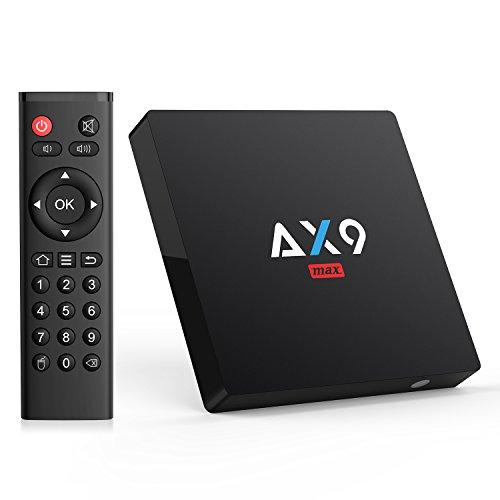 TICTID [2GB/16GB EMMC] AX9 MAX Android 7.1 TV Box 4K TV Box Amlogic Quad Core A53 Processor 64 Bits...