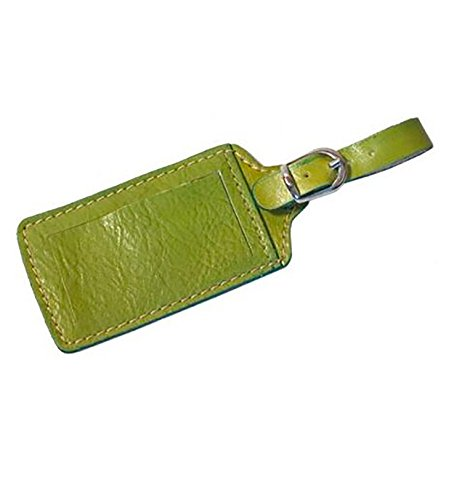 Floto Imports 211 Leather Luggage Tag Color: Green