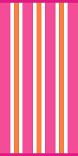 Simply Outdoors Cabana Basic Pink Stripe Beach Towel 30' by 60' - 100% Cotton