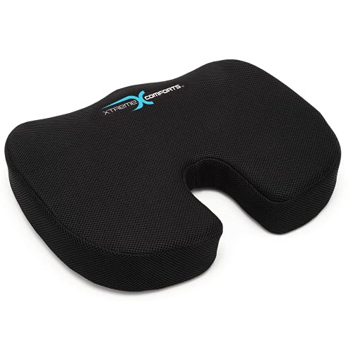 Xtreme Comforts Desk Chair Cushions for Back Support and Tailbone Relief - Memory Foam Coccyx Seat...