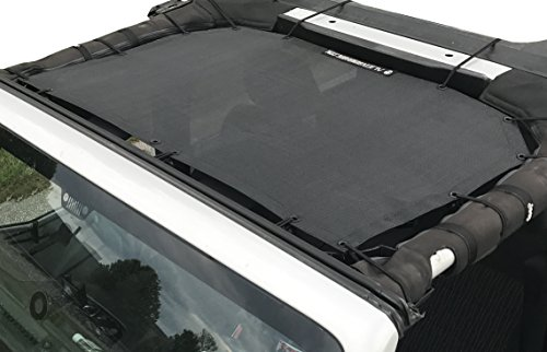 Alien Sunshade Jeep Wrangler Durable Polyester Mesh Shade Top Cover Provides UV Sun Protection for...
