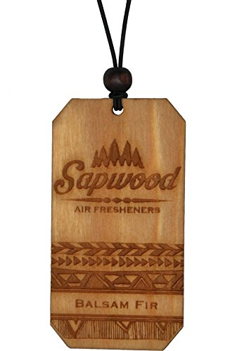 Wooden Air Freshener by Sapwood | Refreshing Balsam Fir Fragrance | 100% Made in the USA | Traveler...