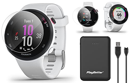 Garmin Forerunner 45S GPS Running Watch Power Bundle | Includes PlayBetter Portable Charger & HD...