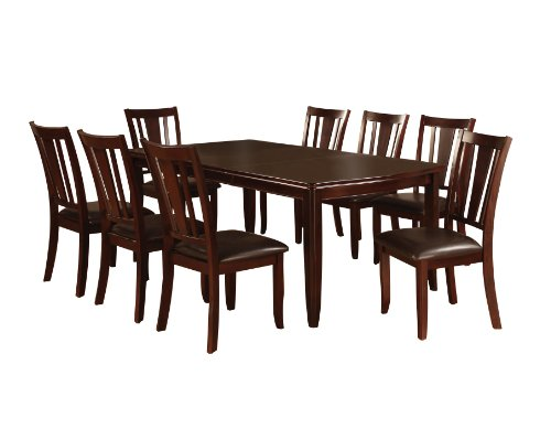 Furniture of America Frederick 9-piece dining room table and chair set, Espresso