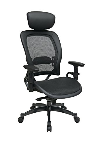 SPACE Seating Breathable Mesh Seat and Back, 2-to-1 Synchro Tilt Control, Adjustable Arms, Lumbar...