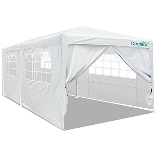 Quictent 10'x20' Party Tent Gazebo Wedding Canopy with Removable Sidewalls & Elegant Church