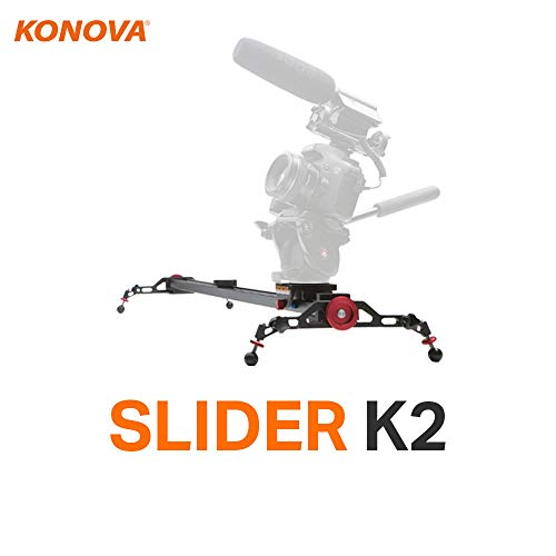 Konova Camera Slider Dolly K2 100cm (39.4 Inch) Track Aluminum Light Weight for Camera, Gopro,...