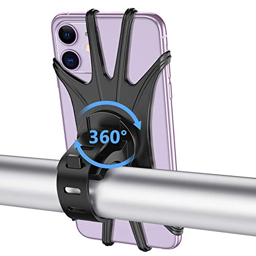 Bike Phone Mount, VUP Universal Bike Cell Phone Holder, 360° Rotatable, Silicone Bicycle Phone...