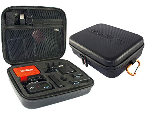 GoRad Gear Carrying Case for GoPro Hero Cameras, Water Resistant Exterior, Shockproof EVA Foam...