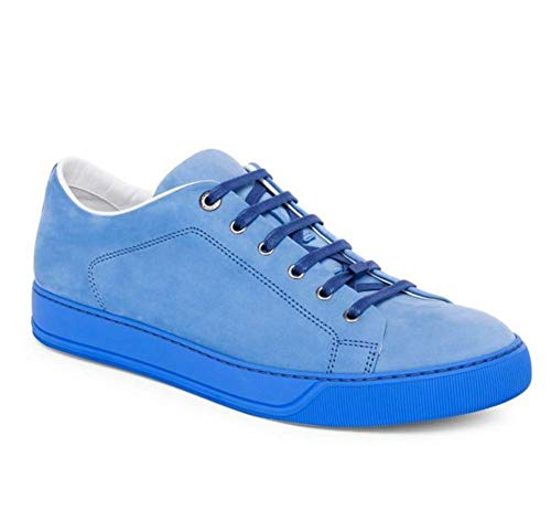 Lanvin Suede Low Top Sneakers in Sky Blue. Size 9
